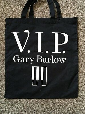 VIP Gary Barlow Tote Bag. Black Tote From Gary's Solo Tour 2014