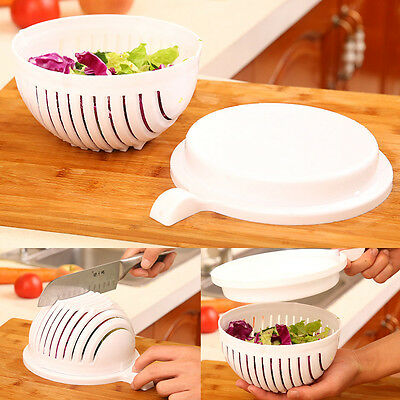 Salad Cutter Bowl 60 Second Easy Make Your Salad Fresh Tool Slicer Fruit Washer