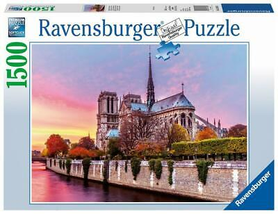 1500pc Puzzle (Picturesque Notre Dame) - Ravensburger Free Shipping!