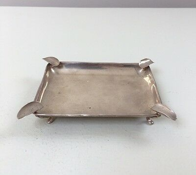 LOVELY SOLID SILVER ASH TRAY, BIRM 1936, 51.2g / 1.81oz