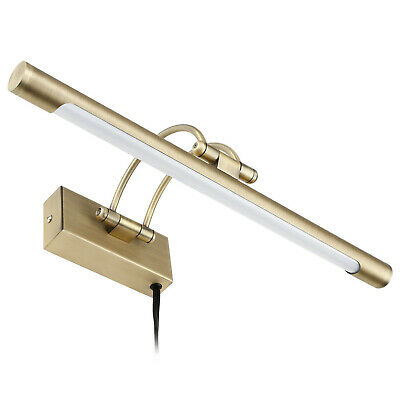 8W LED Picture Light, Plug-in/ Hardwire, Antique Brass Finish, 3000K Warm White