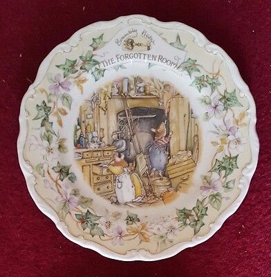 "Royal Doulton Brambly Hedge Plate 8""    THE FORGOTTEN ROOM    1st Quality"