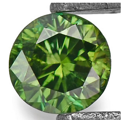 0.19 Cts EXCELLENT RARE QUALITY GREEN COLOR NATURAL LOOSE DIAMONDS- SI1