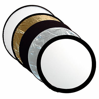 Kood 60cm 5 In 1 Photography Reflector Kit - Silver, Gold, White, Black & Diff