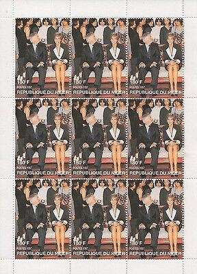 Lady Diana Princess Of Wales 1961-1997 Republique Du Niger Mnh Stamp Sheetlet