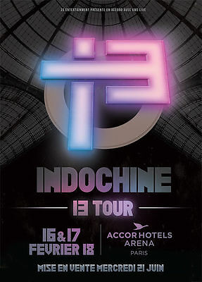 Billets places Fosse cat 3 Indochine Bercy AccorHotels Arena * 17 Février 2018 *
