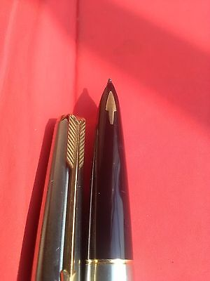 Vintage Parker 61 Gold Plated Flighter Fountain Pen With Case