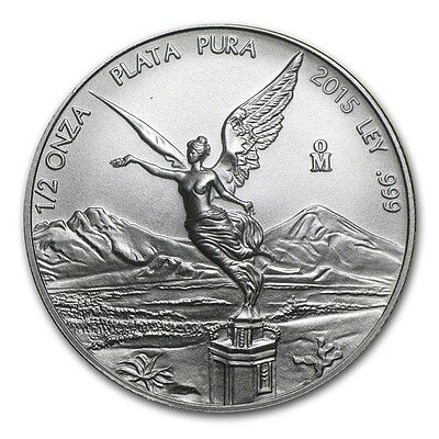2015 MEXIQUE  Argent 1/2 Once Libertad 2015 - 1/2 Oz silver coin