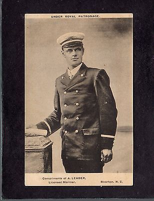 A Leader portrait Riverton New Zealand Royal Patronage Licenced Mariner postcard