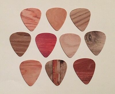 10 pcs Medium 0.71mm Guitar Picks 2 Sides Printing - WOOD GRAIN