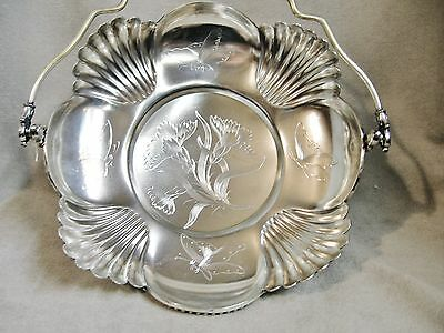 Stunningly Beautiful 1850-1899 Silver Plated Bride's Basket By Rockford ~ Wow ~