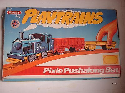 Rare Vintage Hornby Train Set Pixie Pushalong Boxed + Instructions + Track
