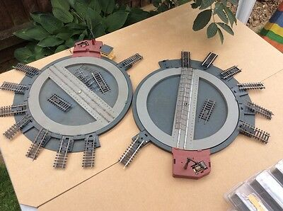 oo Gauge Two Electrically Hornby Turntables