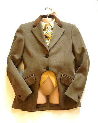 Girls Mears Pytchley Brown Tweed Cutaway Showing Jacket Size 28