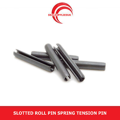 "Slotted Roll Pin Spring Tension Pins 7/32"" Outside Diameter (OD) Various Lengths"