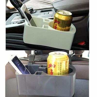 Car Seat Gap Slit Headrest Cup Phone Holders Bottle Cup Mount Stand Storage Box
