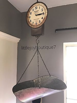 Farmhouse Decor Fixer Upper inspired Productive Grocery Hanging Scale Clock