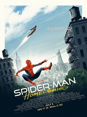 New Spiderman Homecoming Movie Poster A4 Print version 8