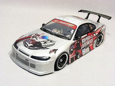 RC Racing Custom Painted Car Body Shell 1/10 scale On-Road Drift Car body S15