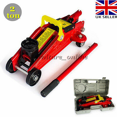 Car Van 2 Ton Hydraulic Trolley Floor Jack Heavy Duty Lifting Repair tool + Case