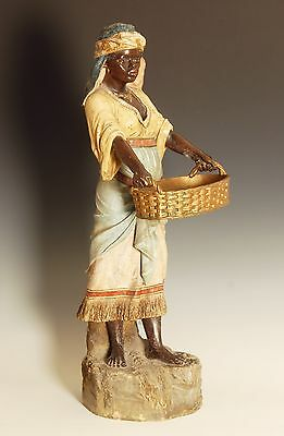 Terracotta Figure of a Nubian lady, cold painted , late 19 th Century