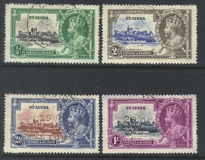 St Lucia 1935 Silver Jubilee Used Set Of 4 Cat £28