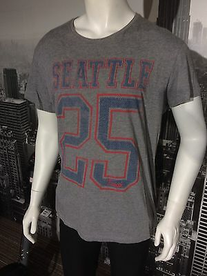 Mens Seattle 25 Grey T-shirt / Top Size Large