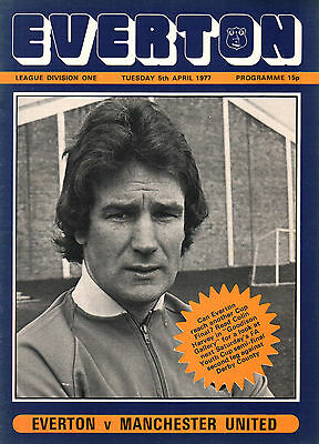 1976/77 Everton v Manchester United, Division 1, PERFECT CONDITION