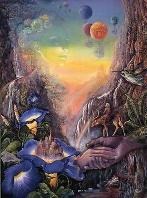 SunsOut Bridge of Hope by Josephine Wall 1000 piece fantasy jigsaw puzzle