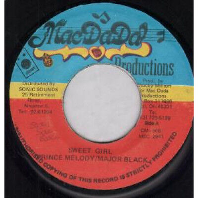 "PRINCE MELODY / MAJOR BLACK Sweet Girl 7"" VINYL B/w Mistake Version (msc2941)"