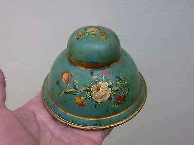 A Victorian Hand Painted Toleware Inkwell c1840