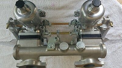MGB HS6 1 3/4 TWIN SU BIG  CARBS  KIT AUD505m  including stainless heat shield