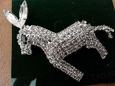 Democratic Clear Crystal Lapel Pin two inches