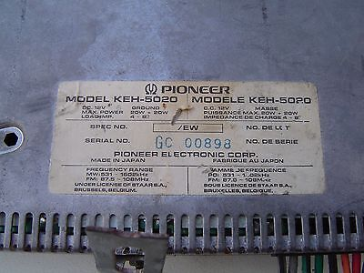 Pioneer Radio/Player Synthesized Tuner KEH5020