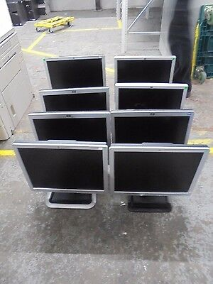 """JOB LOT 8 X 17"""" HP LCD Monitor Display with Stands LE1711/L1706/L1710/1740/L1750"""