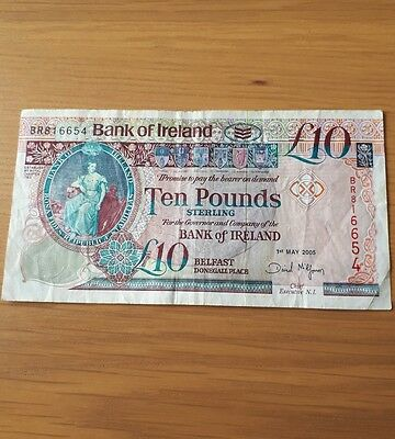 10 Northern Ireland pounds banknote. Bank of Ireland