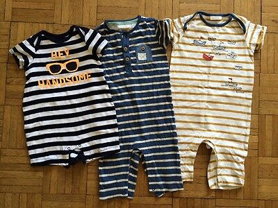 Next & Gap 3 Baby Boy Rompers 6-9 Months Excellent Condition