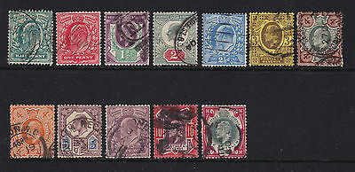 Great Britain 1902 King Edward VII Portraits pre-decimal Stamps Collection used