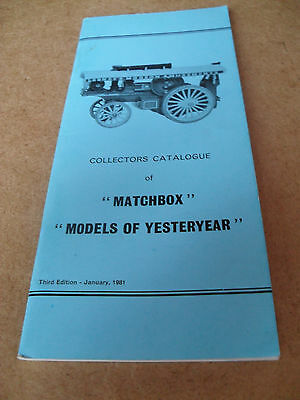 Matchbox Yesteryear Collectors Catalogue 1981 Uk Edition Excellent Condition