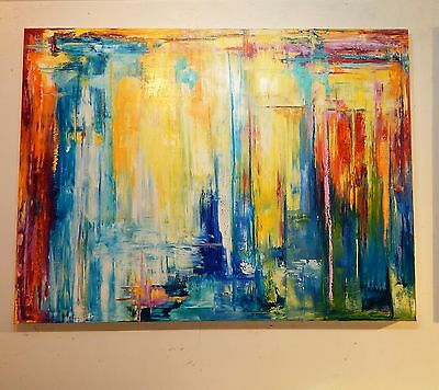 Huge Dorricott Art Original Abstract Oil Painting 120 X90 Cm Gallery Quality