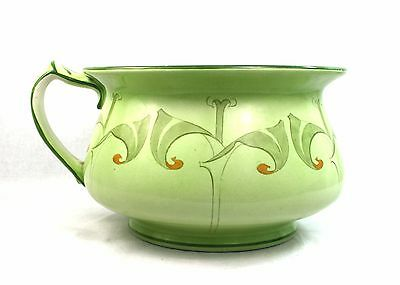Antique Burgess and Leigh Chamber Pot Potty Green Art Nouveau Floral c.1912