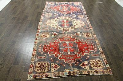 Traditional Vintage Persian Wool  4.1 X 9.1 Oriental Rug Handmade Carpet Rugs