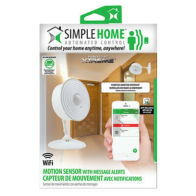 Simple Home Wifi Motion Sensor with Message Alerts - White