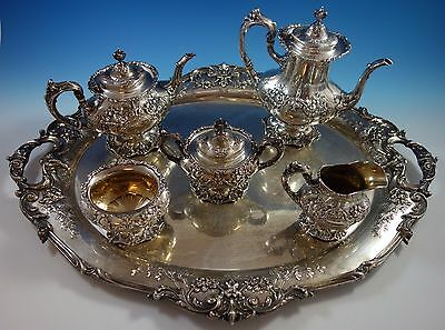 Francis I by Reed & Barton Old Sterling Silver Tea Set 5pc with Tray (#1628)