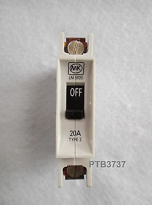 New And Unused  'old Style' Mk Ln 5920 Mcb 20A Type 2 Sp 1 Module 240V A.c. M6