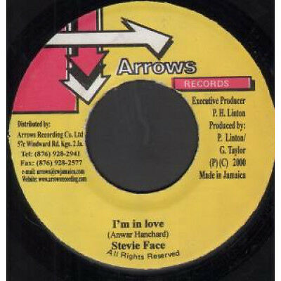 "STEVIE FACE I'm In Love 7"" VINYL B/w Fire Coal By Arrows All Star  JAMAICA Arr"