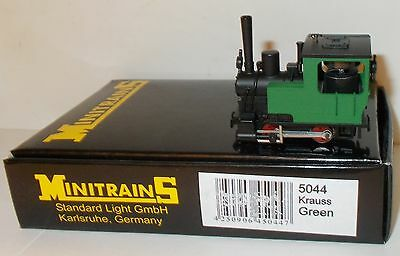 Minitrains 5044 - Krauss 0-4-0T, Green - Boxed. (009/HOe Narrow Gauge)