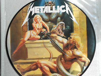 Metallica, No Life 'Til Power.ULTRA RARE Vinyl Picture Disc LP.Excellent !!