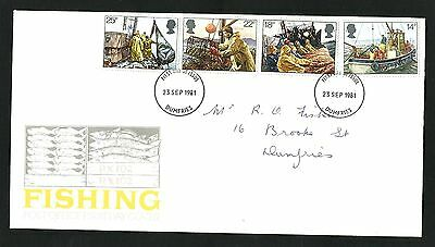 GB.FDC.  1981  Fishing