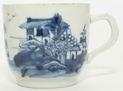 EXCELLENT CHINESE EXPORT BLUE COFFEE CUP c1790